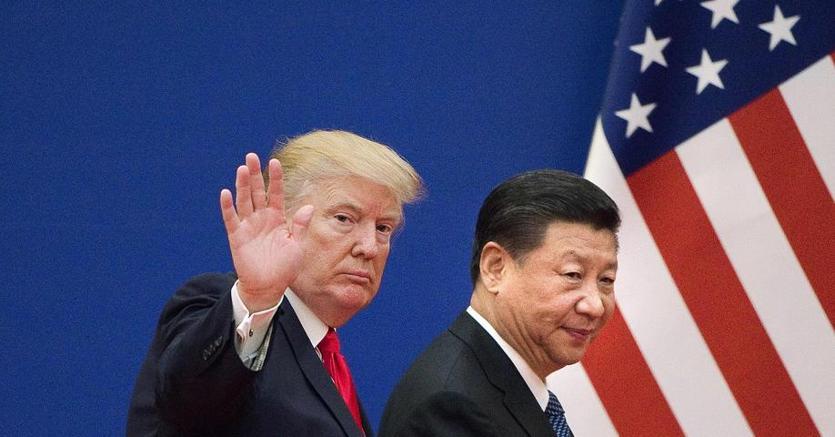 Il presidente Usa Donald Trump e il presidente cinese Xi Jinping